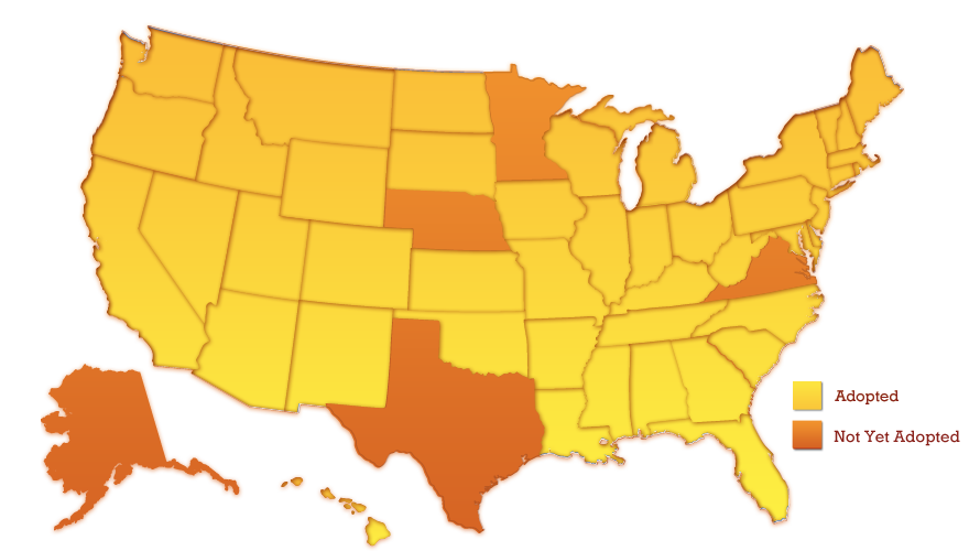 US Metric Adoption And Common Core Education Standards More - Map of us customary system