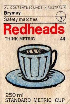 redheads metric-cup