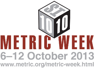 The logo for this year's National Metric Week