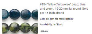 How crazy is this? Bead sizes in mm and strand in inches.