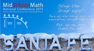 The next MidSchool Math conference is already in the planning stages