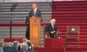 President Obama addressing British Parliament in 2011