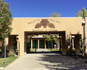 Taos Middle School where I paid a recent visit