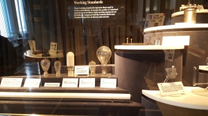 Artifacts in the museum at the National Institute of Standards and Technology in D.C.