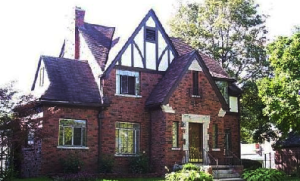 The house in Detroit where I lived from five years old as it looks today. My mother lived  there until I was in college.