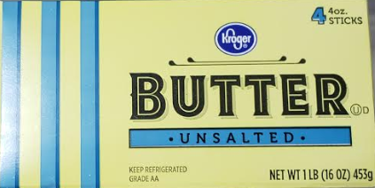 Box of Kroger butter